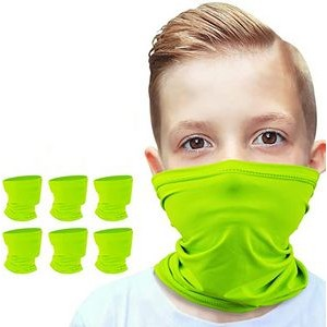 Kids Safety Yellow Neck Gaiter Face Mask
